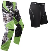 Tenn Rage MX/DH/BMX Off Road Cycling Pants with Coolflo Padded Boxers Combo Deal