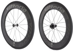 Product image for Vittoria Qurano 84 Full Carbon Tubular SRAM/Shimano NoTool Freewheel Quick Release Wheelset