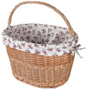 Quick Release Wicker Basket with Liner