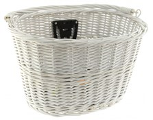 Quick Release White Wicker Basket
