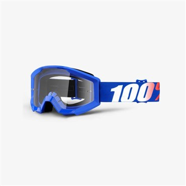 100% Strata JR Youth Anti-Fog Clear Lens MTB Goggles