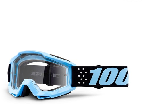 100% Accuri Anti-Fog Clear Lens MTB Goggles