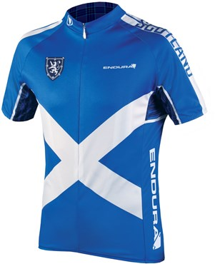 Image of Endura CoolMax Printed Scotland II Short Sleeve Cycling Jersey SS17