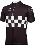 Le Coq Sportif Checkered Short Sleeve Cycling Jersey