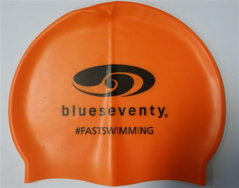 Blueseventy B70 Logo Silicone Orange Cap With PVC Bag
