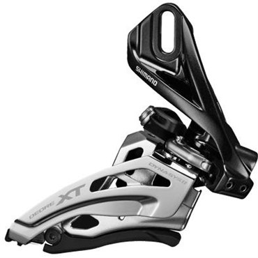 Image of Shimano Deore XT M8020-L Double Front Derailleur Side Swing Front Pull