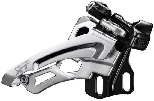 Image of Shimano Deore XT M8000-D Triple Front Derailleur Side Swing Front Pull