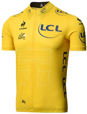 Le Coq Sportif Yellow Leaders Short Sleeve Cycling Jersey 2015
