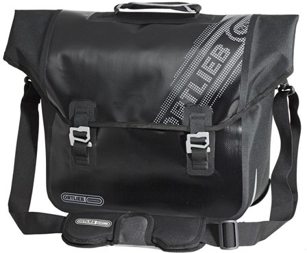 Image of Ortlieb Downtown Black n White Rear Pannier Bag with QL2.1 Fitting System