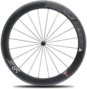 Product image for Profile Design 58 Twenty Four Full Carbon Clincher Wheel - Front