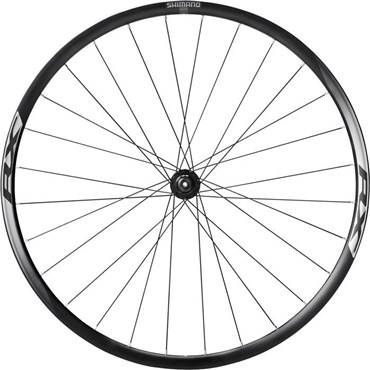 Shimano WH-RX010 Disc Road Wheel, Clincher 24 mm, Black, Front