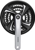 Product image for Shimano FC-TX801 Tourney Triple Chainset Without Chainguard