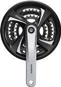 Product image for Shimano FC-TX801 Tourney Triple Chainset