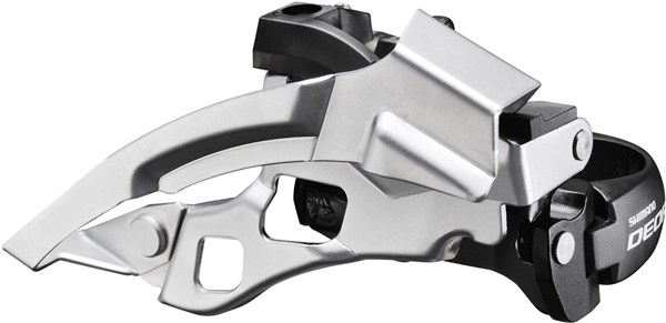 Image of Shimano FD-T610 Deore Front Derailleur - Top-Swing - Dual-Pull - Multi Fit - 63-66 Deg