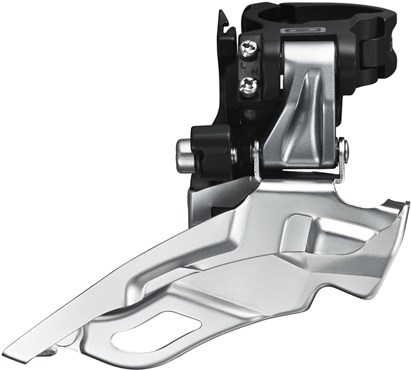 Shimano FD-M611 Deore 10-Speed Triple Front Derailleur - Conventional Swing - Top-Pull