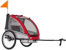 Product image for Adventure AT6 Alloy 2 Seater Bicycle Trailer