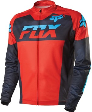 Image of Fox Clothing Livewire Race Mako Long Sleeve Cycling Jersey