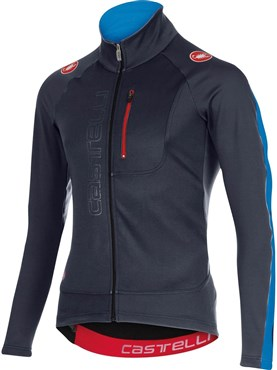 Image of Castelli Transparente 3 FZ Windproof Long Sleeve Cycling Jersey With Full Zip AW16