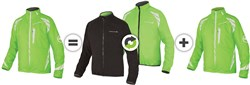 Product image for Endura Luminite 4 in 1 Cycling Jacket With New Luminite II LED AW17