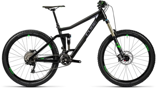 Image of Cube Stereo 160 C:62 Race 27.5 Mountain Bike 2016 - Full Suspension MTB