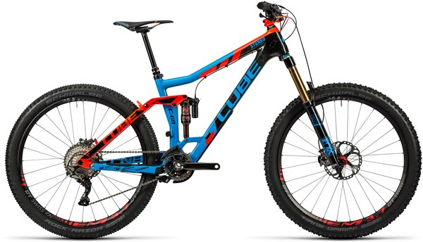 Cube Stereo 160 C:68 Action Team 27.5 Mountain Bike 2016 - Full Suspension MTB