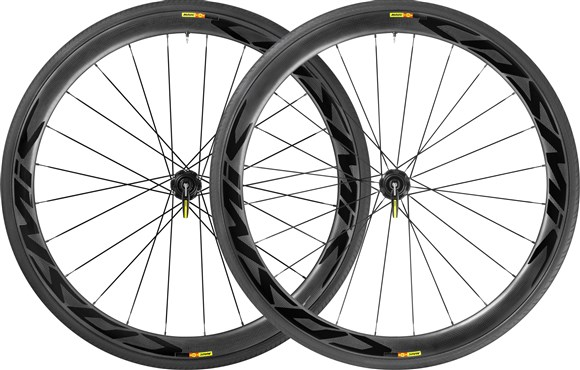 Image of Mavic Cosmic Pro Carbone SL Tubular Disc CL Road Wheels 2017