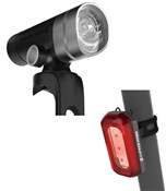 Product image for Blackburn Central 300 Front + Rear 50 USB Rechargeable Light Set