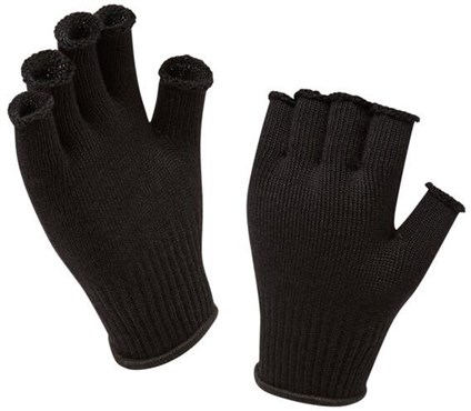 Image of Sealskinz Merino Fingerless Cycling Gloves Liner AW16