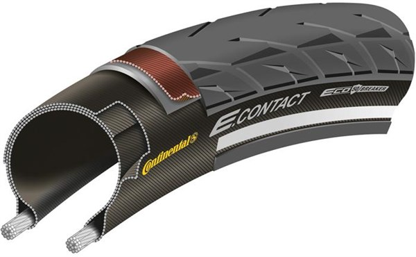 Image of Continental E Contact Reflective 700c Hybrid Tyre