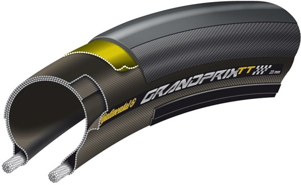 Image of Continental Grand Prix TT Black Chili Folding Clincher Road Tyre