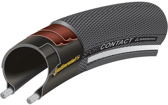 Image of Continental Sport Contact II Reflex 26 Reflective Hybrid Tyre