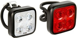 Product image for Knog Blinder Mob Four Eyes Twinpack USB Rechargeable Light Set