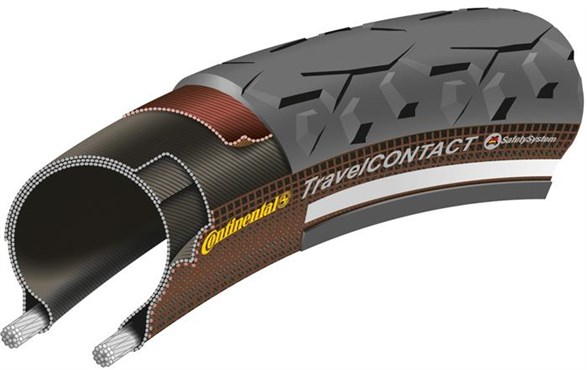 Continental Travel Contact Reflective 28 inch Hybrid Tyre