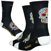 Product image for Defeet Aireator Tall Sugarskull Socks