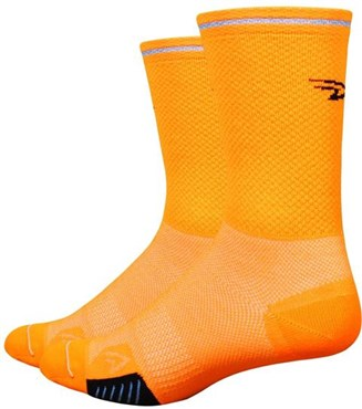 "Image of Defeet Cyclismo 5"" Socks - Reflective Stripe"