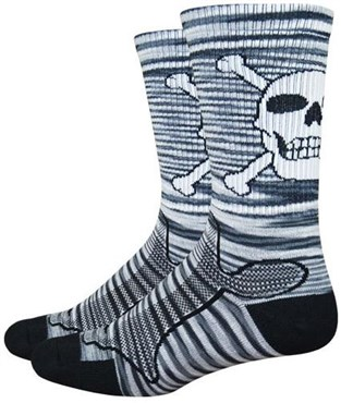 "Defeet Levitator Trail 6"" Bonehead Socks"