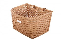 Bobbin Cambridge Wicker D Shape Basket with Leather Straps