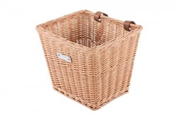 Bobbin Everyday Wicker Square Basket with Leather Straps