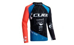 Product image for Cube Action Roundneck Signature Long Sleeve Cycling Jersey
