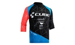 Product image for Cube Action Roundneck Signature 3/4 Arm Cycling Jersey