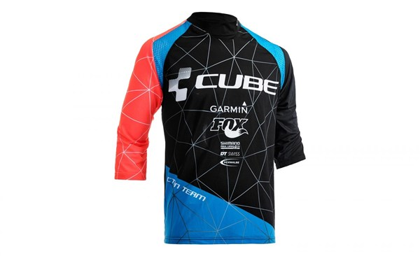 Image of Cube Action Roundneck Signature 3/4 Arm Cycling Jersey