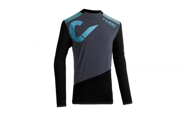 Image of Cube All Mountain Roundneck Long Sleeve Cycling Jersey