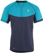 Product image for Scott Trail MTN Polar Q-Zip Short Sleeve Cycling Jersey