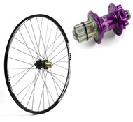"Hope Tech XC SP24 S-Pull - Pro 4 Straight-Pull 26"" Rear Wheel - 24 Hole"