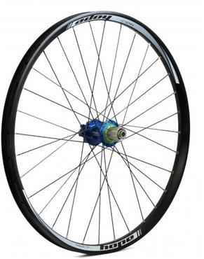"Image of Hope Tech DH - Pro 4 26"" Rear Wheel - Blue - 32H"