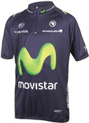 Product image for Endura Movistar Team Kids Short Sleeve Cycling Jersey AW16