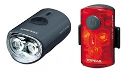 Product image for Topeak Mini USB Combo Light Set