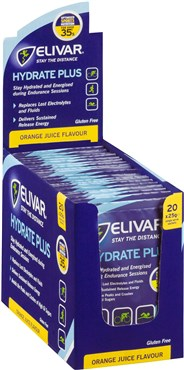 Elivar Hydrate Plus Electrolyte and Sustained Energy Powder Drink - 20 x 25g