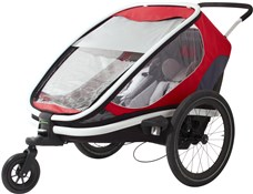 Product image for Hamax Outback Child Transport Trailer With Stroller Wheels - 2 Children