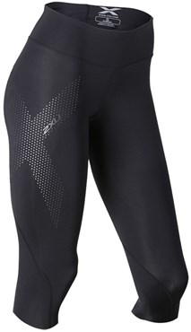 2XU Mid-Rise Womens Compression 3/4 Tights SS16